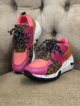 Coral Leopard Sneakers