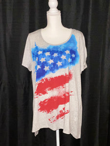 Grey Top with Flag Detail