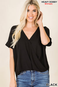 Delaney Drape Front Top