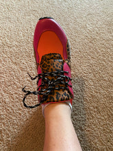 Load image into Gallery viewer, Coral Leopard Sneakers