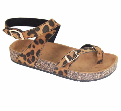 *Little Girls* Leopard Wrap Sandals
