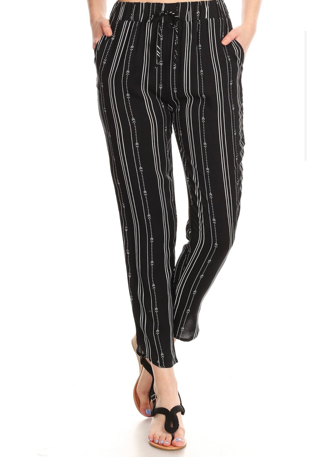 Janie Striped Crop Pants