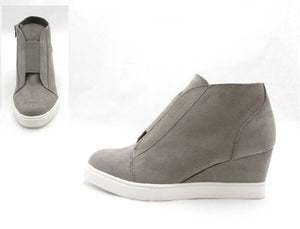 Ingrid Grey Wedge Sneaker