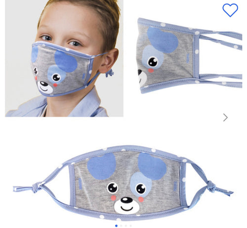 Kids Puppy Face Mask