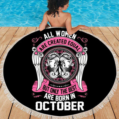 BEST WOMEN ARE BORN IN OCTOBER BEACH/PICNIC BLANKET