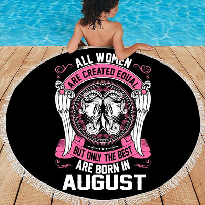 BEST WOMEN ARE BORN IN AUGUST BEACH/PICNIC BLANKET