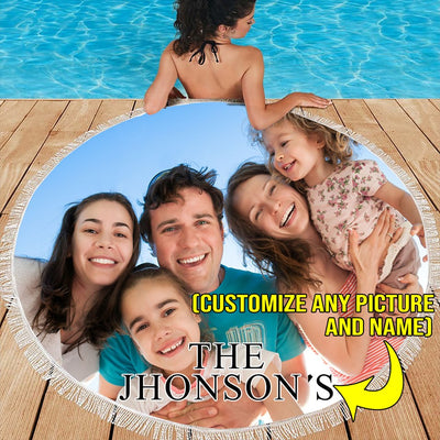 PERSONALIZED FAMILY BEACH/PICNIC BLANKET
