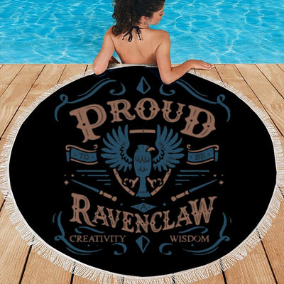 PROUD RAVENCLAW ROUND BEACH/PICNIC BLANKET