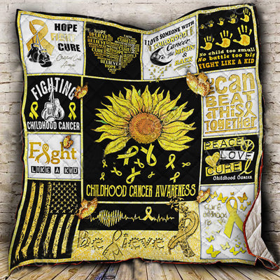 Childhood Cancer Awareness Quilt
