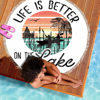 LIFE IS BETTER ON THE LAKE BEACH/PICNIC BLANKET