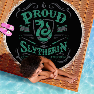 PROUD SLYTHERIN ROUND BEACH/PICNIC BLANKET