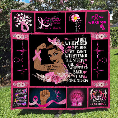 Breast Cancer Warrior Quilt THH854ct