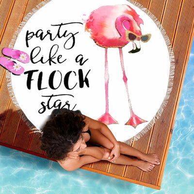 PARTY LIKE A FLOCK STAR BEACH/PICNIC BLANKET