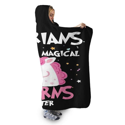 LIBRARIANS UNICORN HOODED SHERPA BLANKET