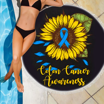 COLON CANCER AWARENESS BEACH/PICNIC BLANKET
