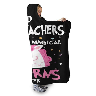 2ND GRADE TEACHERS UNICORN HOODED SHERPA BLANKET