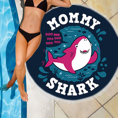MOMMY SHARK BEACH/PICNIC BLANKET