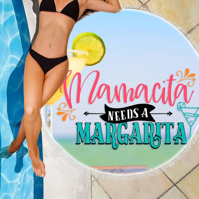 MAMACITA NEEDS A MARGARITA BEACH/PICNIC BLANKET