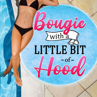 BOUGIE WITH A LITTLE BIT OF HOOD BEACH/PICNIC BLANKET