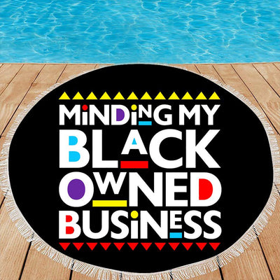MINDING MY BLACK OWNED BUSINESS BEACH/PICNIC BLANKET