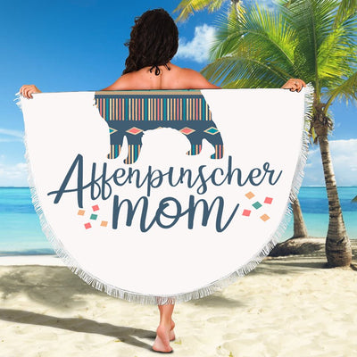 AFFENPINSCHER MOM BEACH/PICNIC BLANKET