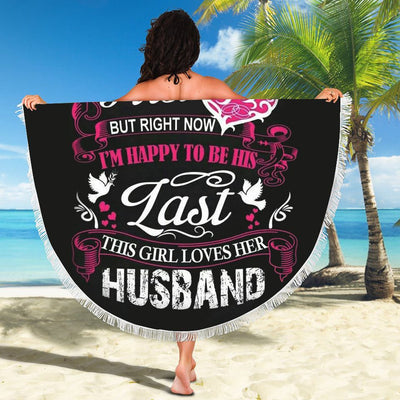 THIS GIRL LOVES HER HUSBAND BEACH/PICNIC BLANKET