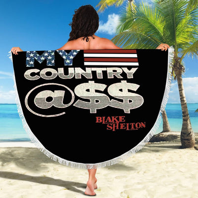 BLAKE SHELTON KISS MY COUNTRY BEACH/PICNIC BLANKET
