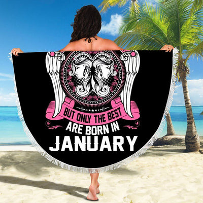 BEST WOMEN ARE BORN IN JANUARY BEACH/PICNIC BLANKET
