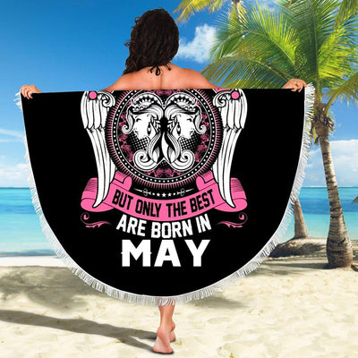 BEST WOMEN ARE BORN IN MAY BEACH/PICNIC BLANKET