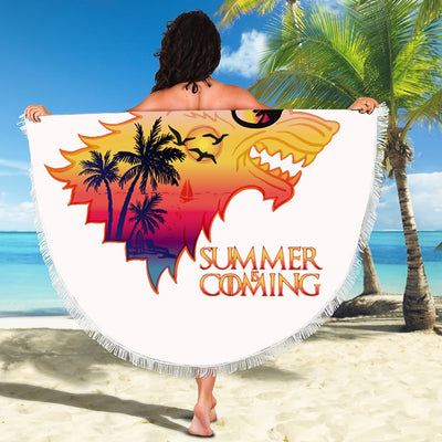 SUMMER IS COMING ROUND BEACH/PICNIC BLANKET