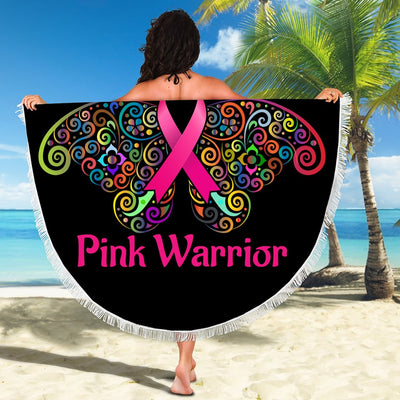 BUTTERFLY PINK WARRIOR BEACH/PICNIC BLANKET