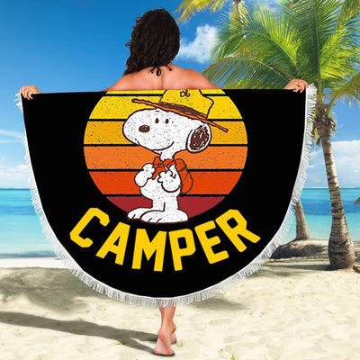 HAPPY CAMPER BEACH/PICNIC BLANKET