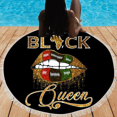 BLACK QUEEN BEACH/PICNIC BLANKET