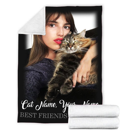 FOREVER BEST FRIENDS CAT PERSONALIZED BLANKET