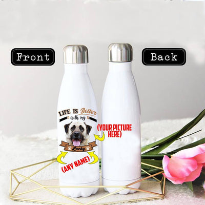 PERSONALIZED ANATOLIAN SHEPHERD STAINLESS STEEL THERMAL BOTTLE