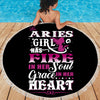 ARIES GIRL BEACH/PICNIC BLANKET