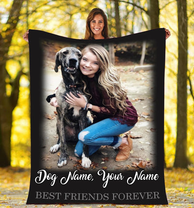 FOREVER BEST FRIENDS DOG PERSONALIZED BLANKET