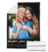 FOREVER BEST FRIENDS MOTHER AND DAUGHTER PERSONALIZED BLANKET