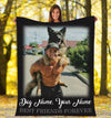 FOREVER BEST FRIENDS DOG 1 PERSONALIZED BLANKET