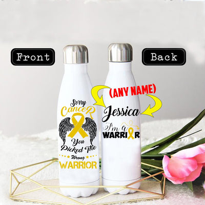 PERSONALIZED CHILDHOOD CANCERS AWARENESS THERMOS BOTTLE