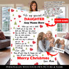 PERSONALIZED DAUGHTER CHRISTMAS BLANKET