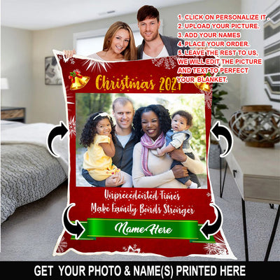 Personalized Christmas 2020 Family Blanket