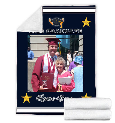 PERSONALIZED 2020 GRADUATE BLANKET