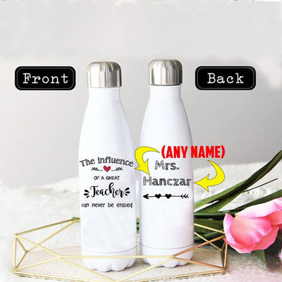 PERSONALIZED GREAT TEACHER STAINLESS STEEL THERMAL BOTTLE