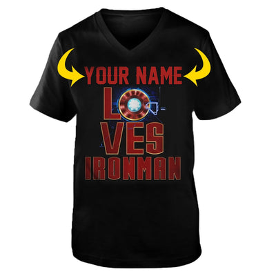 <YOUR NAME> LOVES IRONMAN