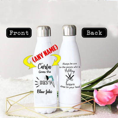 PERSONALIZED HAIR STYLIST STAINLESS STEEL THERMAL BOTTLE