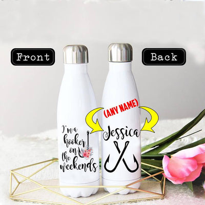 PERSONALIZED WEEKEND HOOKER STAINLESS STEEL THERMAL BOTTLE