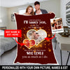 Personalized couples blanket