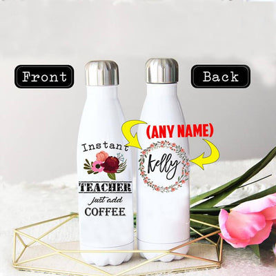 PERSONALIZED INSTANT TEACHER STAINLESS STEEL THERMAL BOTTLE