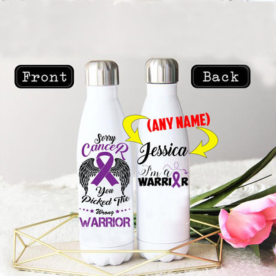 PERSONALIZED LEIOMYOSARCOMA CANCERS AWARENESS THERMOS BOTTLE